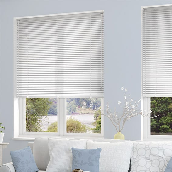 white venetian blinds studio matt white venetian blind - 25mm slat WEUUJMR