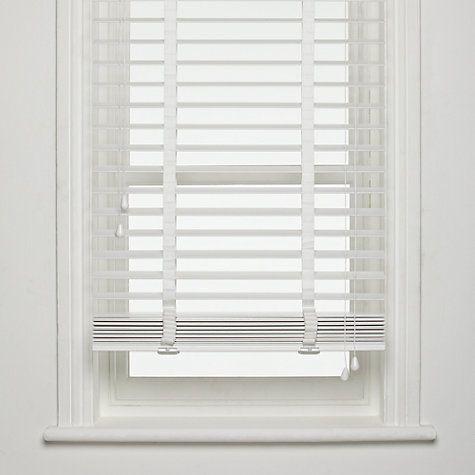 white wood blinds buy john lewis fsc wooden venetian blinds, 50mm online at johnlewis.com ONJUTPQ