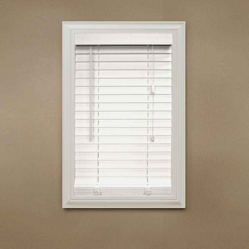 white wooden blinds home decorators collection white 2 in. faux wood blind - 30 in. OBAJGMP
