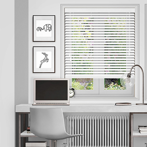 white wooden blinds ... polar white lifestyle wooden blinds ... EAKINCD