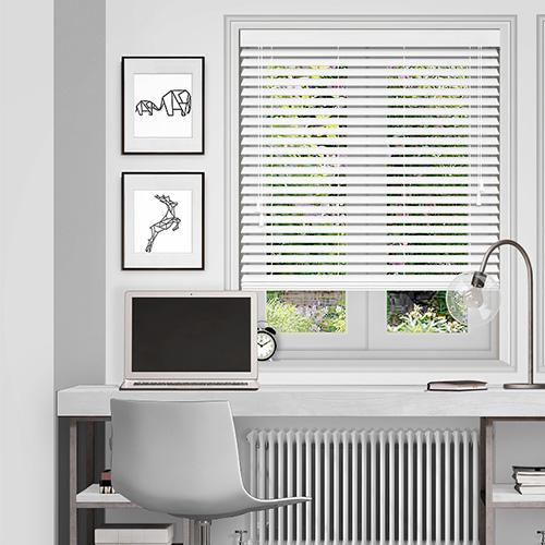 white wooden blinds ... polar white lifestyle wooden blinds ... EAKINCD