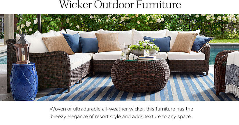 New Fashion Of Decoration: The Wicker Furniture