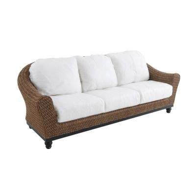 wicker sofa camden light brown wicker outdoor sofa with cushions included, choose your MXCFKGN