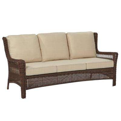 wicker sofa park meadows brown wicker outdoor sofa ... SQOFHHB