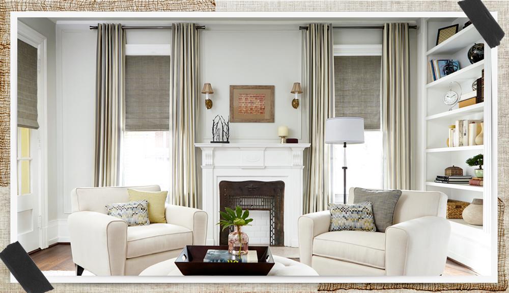 window decor beige curtains, roller shades u0026 living room decor UTVRDKF
