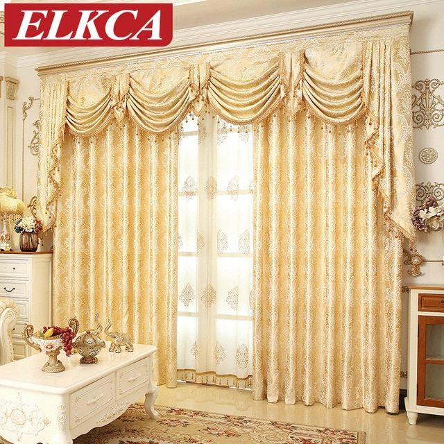 window drapes european golden royal luxury curtains for bedroom window curtains for  living AHTXQPC