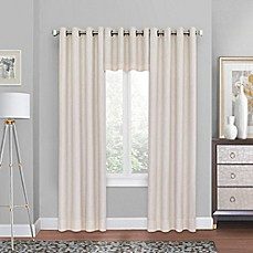 window drapes quinn grommet top blackout window curtain panel and valance ZDMDAEX