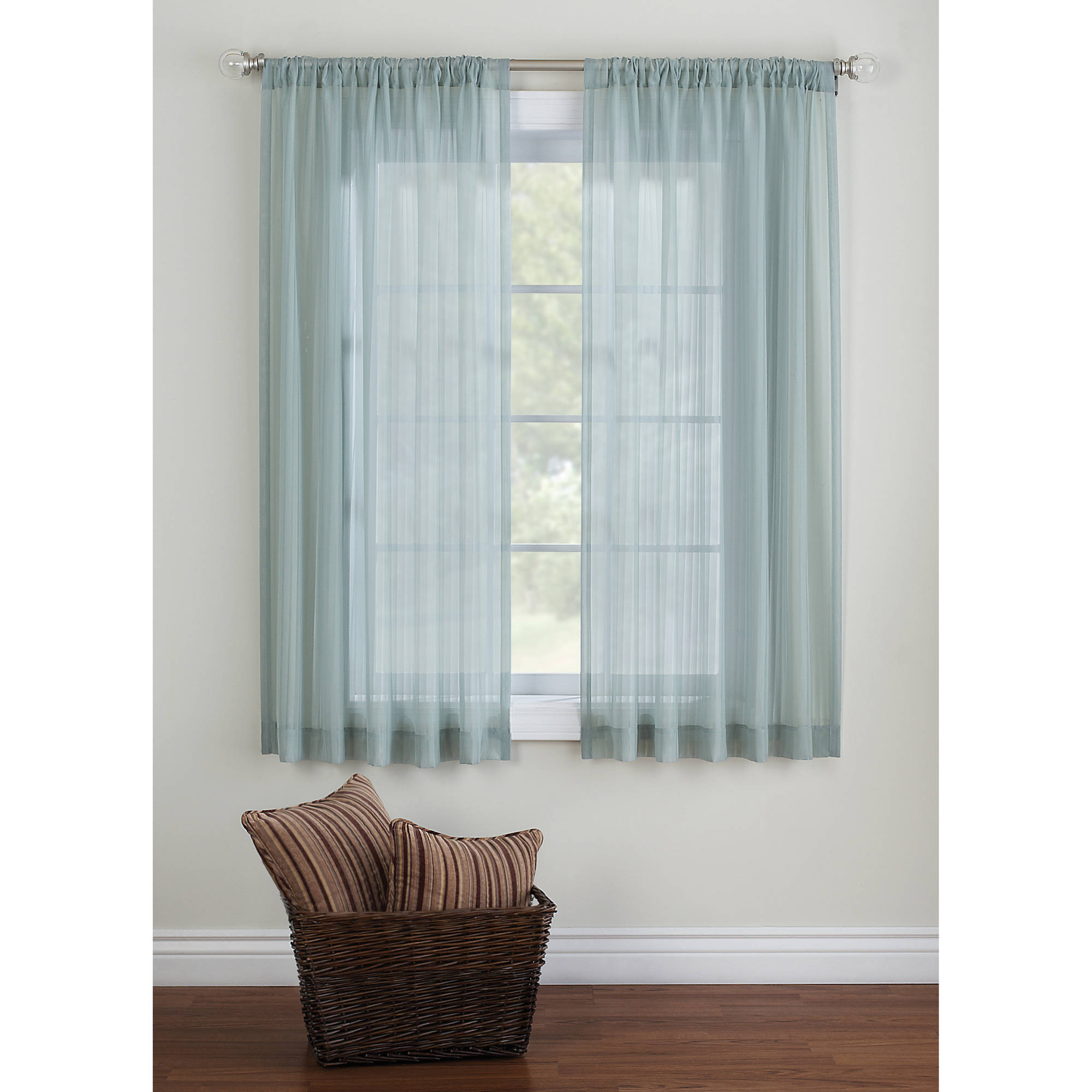 window panels better homes u0026 gardens elise woven stripe sheer window panel - walmart.com NGZIWRZ