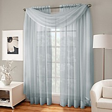 window panels crushed voile platinum collection sheer rod pocket window curtain panels EADBQGX
