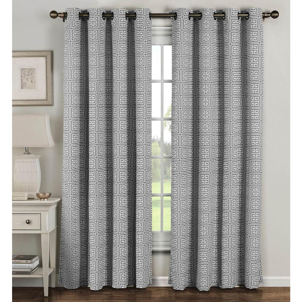 window panels window elements semi-opaque greek key cotton blend extra wide 96 in. l BVRVEKM