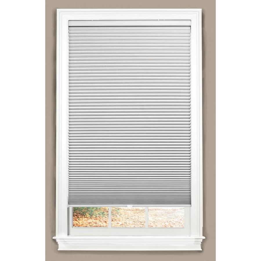 window shade allen + roth white blackout cordless polyester cellular shade (common:  34-in; KCTQBIB