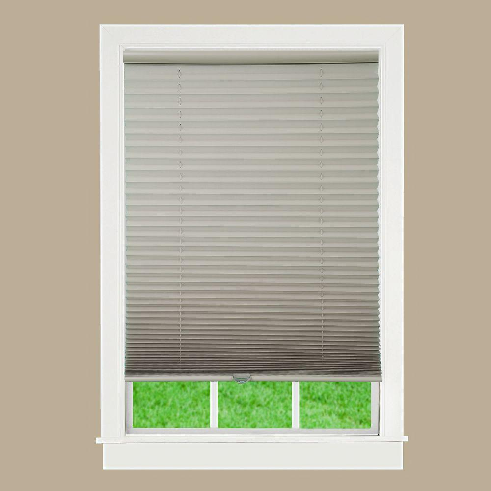 window shade perfect lift window treatment white 1 in. light filtering cordless pleated WRBTKPI