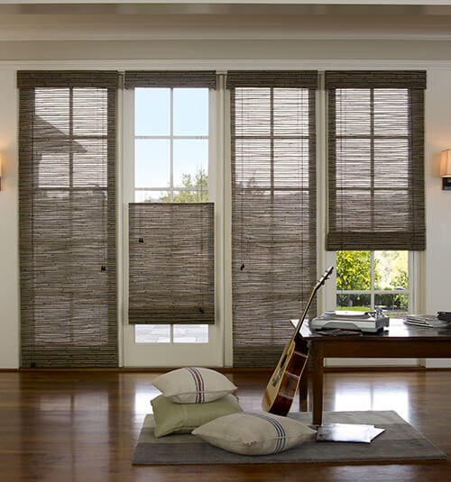 window treatments for french doors blindsgalore natural woven shades MYNARGW