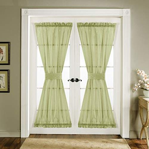 window treatments for french doors lush decor sonora door panel 4-piece, 42-inch by 72-inch, green RNIVPOC