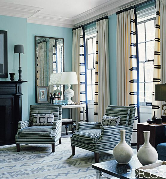 window treatments ideas in the living room of his townhouse in manhattanu0027s west village, designer XCESRFT