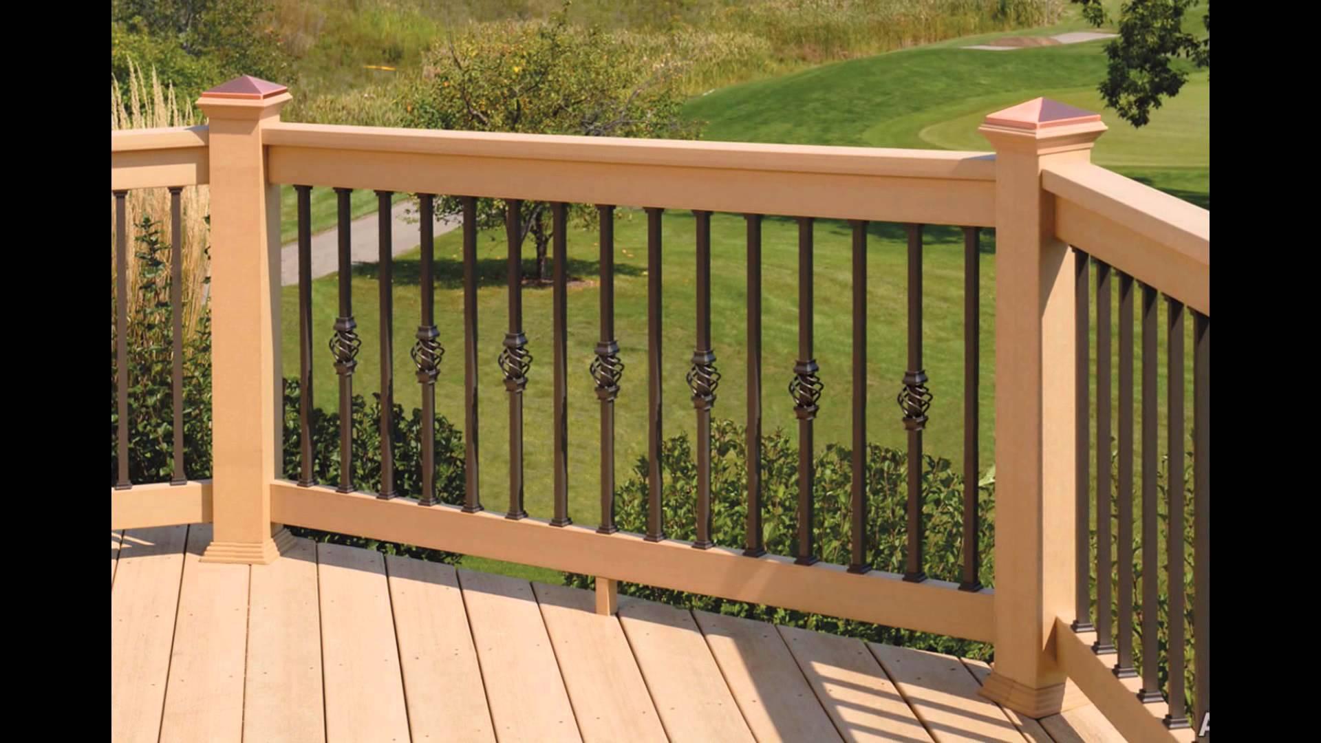 wood deck designs | wood deck railing designs - youtube KPOJMJQ