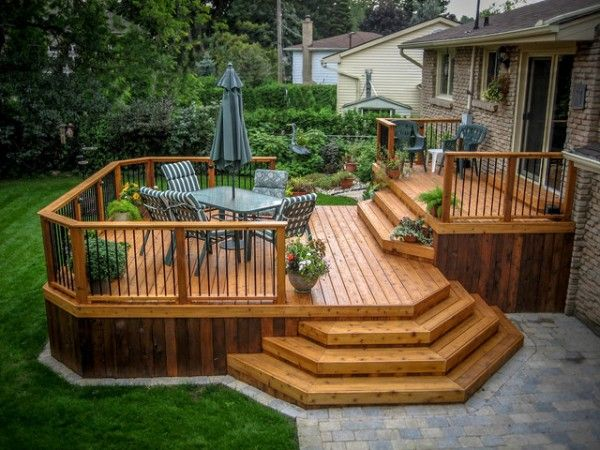 wood decks wooden deck designs - littlepieceofme ANRGSHD