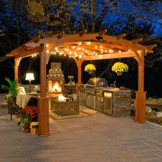 wood rectangle pergola | hearthside style pergola kits www.gazebos.com HKFMOER