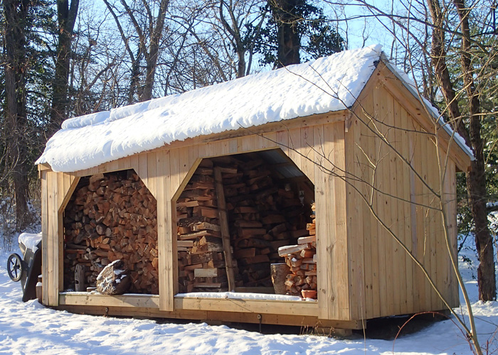wood shed ... 8x20 woodbin - exterior ...