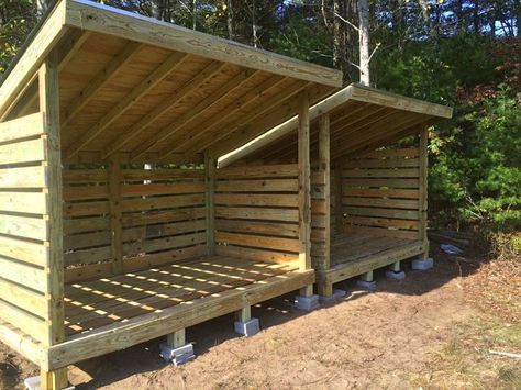 Wood shed for Storage of Garden Equipment
