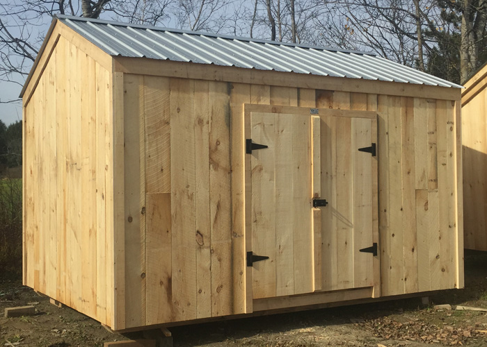 wood storage sheds ... 10x14 new yorker option a - exterior ... NKCVTBN