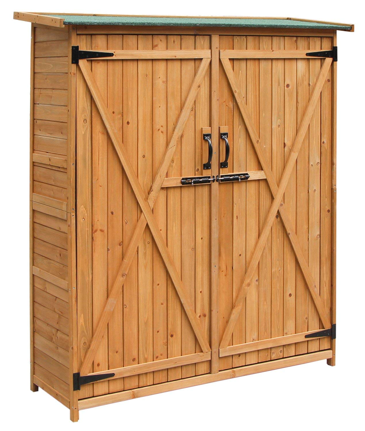 wood storage sheds amazon.com : merax wooden outdoor garden shed with fir wood medium storage KSIDQMB