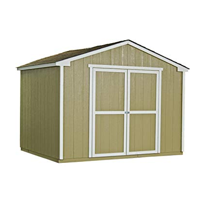 wood storage sheds handy home products cumberland wooden storage shed with floor, 10 by 8-feet NUPPHJU