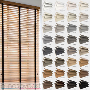 wood venetian blinds image is loading wooden-venetian-blinds-with-tapes-25-35-amp- ZWOHOZQ