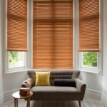 Interior design ideas using wooden blinds