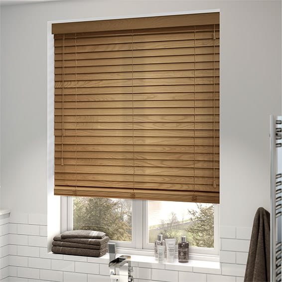 wooden blinds english oak wooden blind - 50mm slat XGOHBKL