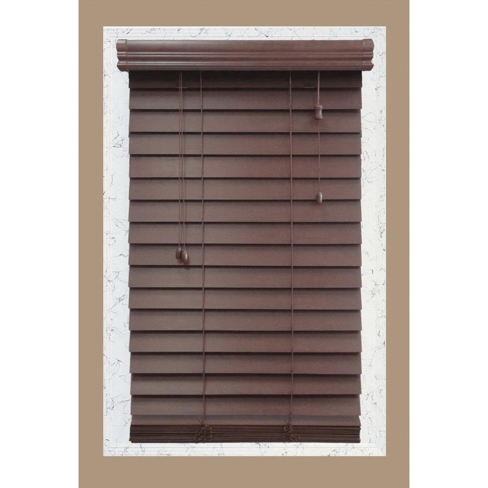 wooden blinds home decorators collection brexley 2-1/2 in. premium wood blind - 71.5 EROXWZD