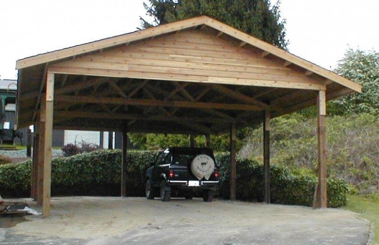 wooden carports | 6 x 6 cedar carport attached carport outside . EIVFRSM