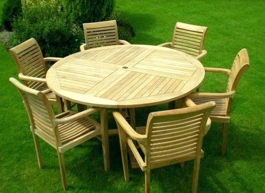 wooden garden furniture sets round wooden outdoor table ingenious inspiration teak wood outdoor  furniture patio MJZUBPB