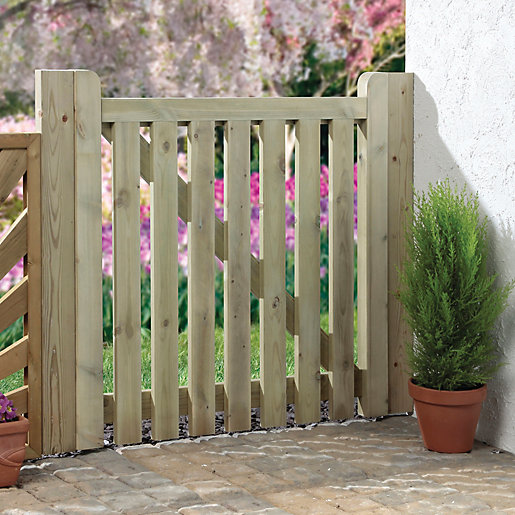 wooden garden gates wickes palisade open slatted timber gate - 915 x 895 mm DHATDHE