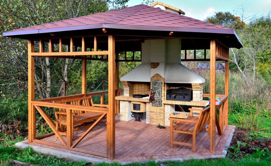 wooden gazebo 32 wooden gazebos that provide rich design and comfortable spaces GVKOQEP