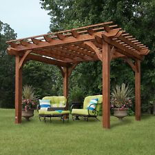 wooden gazebo wooden outdoor gazebo patio pavilion cedar pergola 12u0027 x 10u0027 x ... VERQWPK