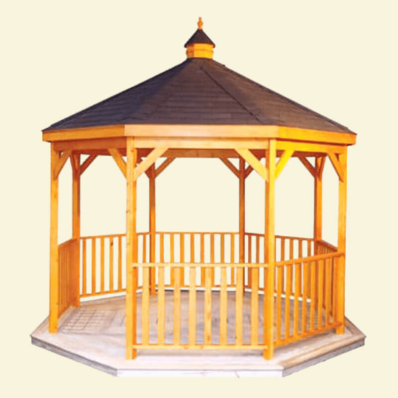 wooden gazebos 12 foot wood gazebo-in-a-box KAMQZXL