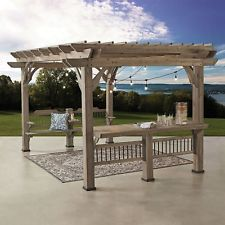 wooden gazebos 14 x 10 pergola with electric capabilities backyard gazebo barn wood WNVWVPA