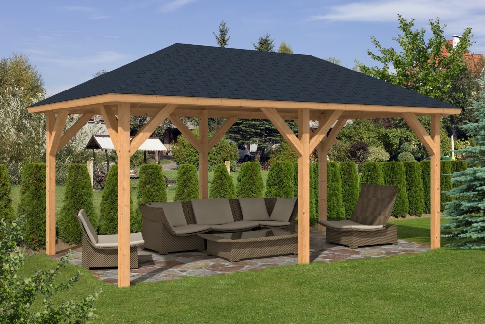 wooden gazebos corfu larch gazebo ... YIBDWHK
