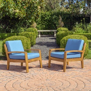 wooden patio furniture grenada outdoor wooden club chair w/ cushions (set of 2) by christopher CZIKSIF