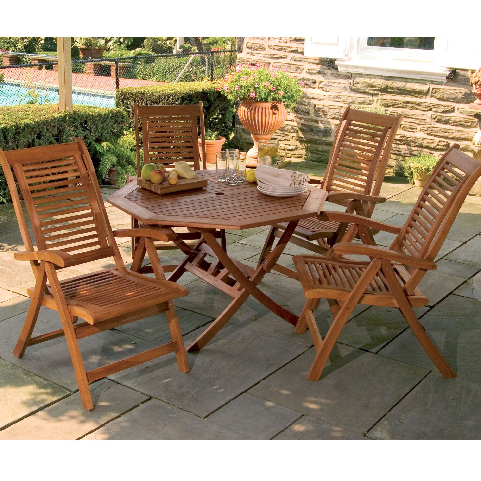 wooden patio furniture lanai shorea wood outdoor dining set GEXVFQE