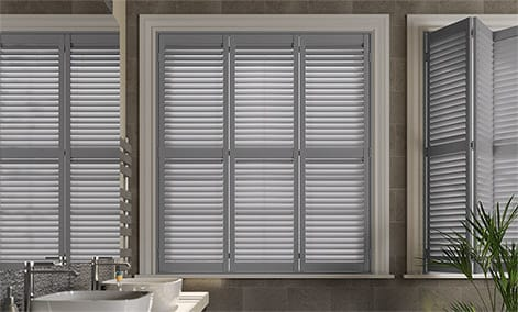 wooden shutter blinds san jose premium french grey