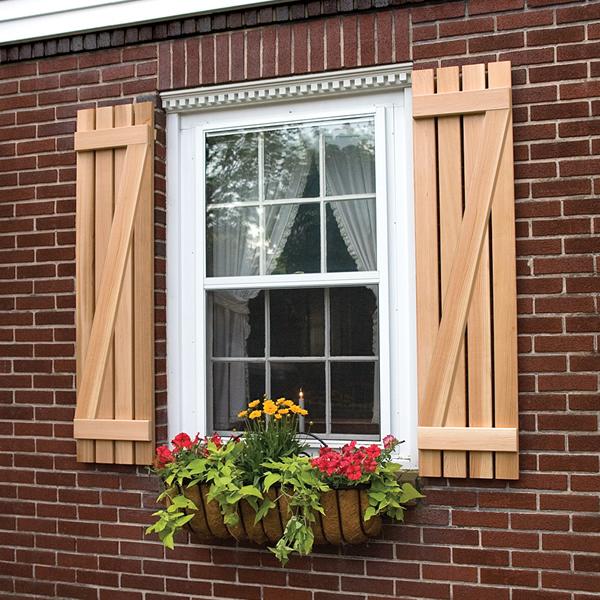 wooden shutters board and batten z shutter in premium white pine or cedar KQXTDHQ