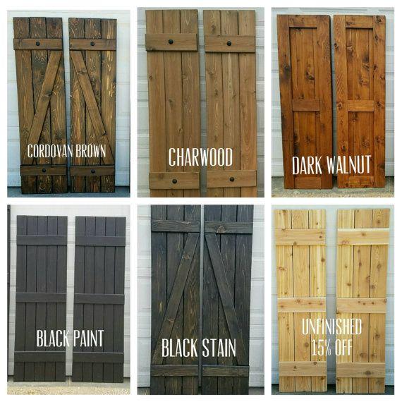 wooden shutters wood shutters board and batten exterior cedar by alittlecurbappeal |  exterior MJCXNXM