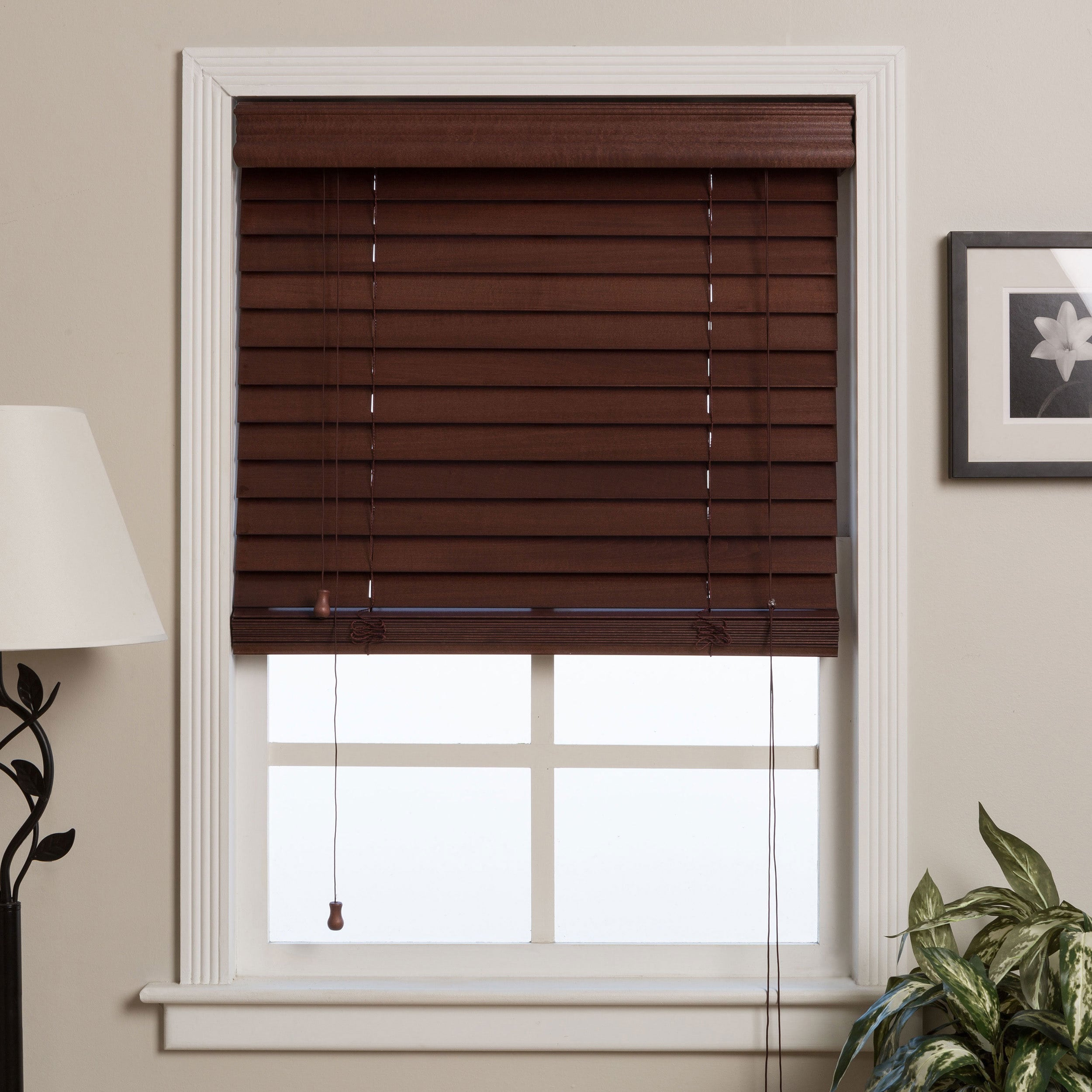 wooden window blinds shop arlo blinds customized 27-inch real wood window blinds - on sale UPPJZRW