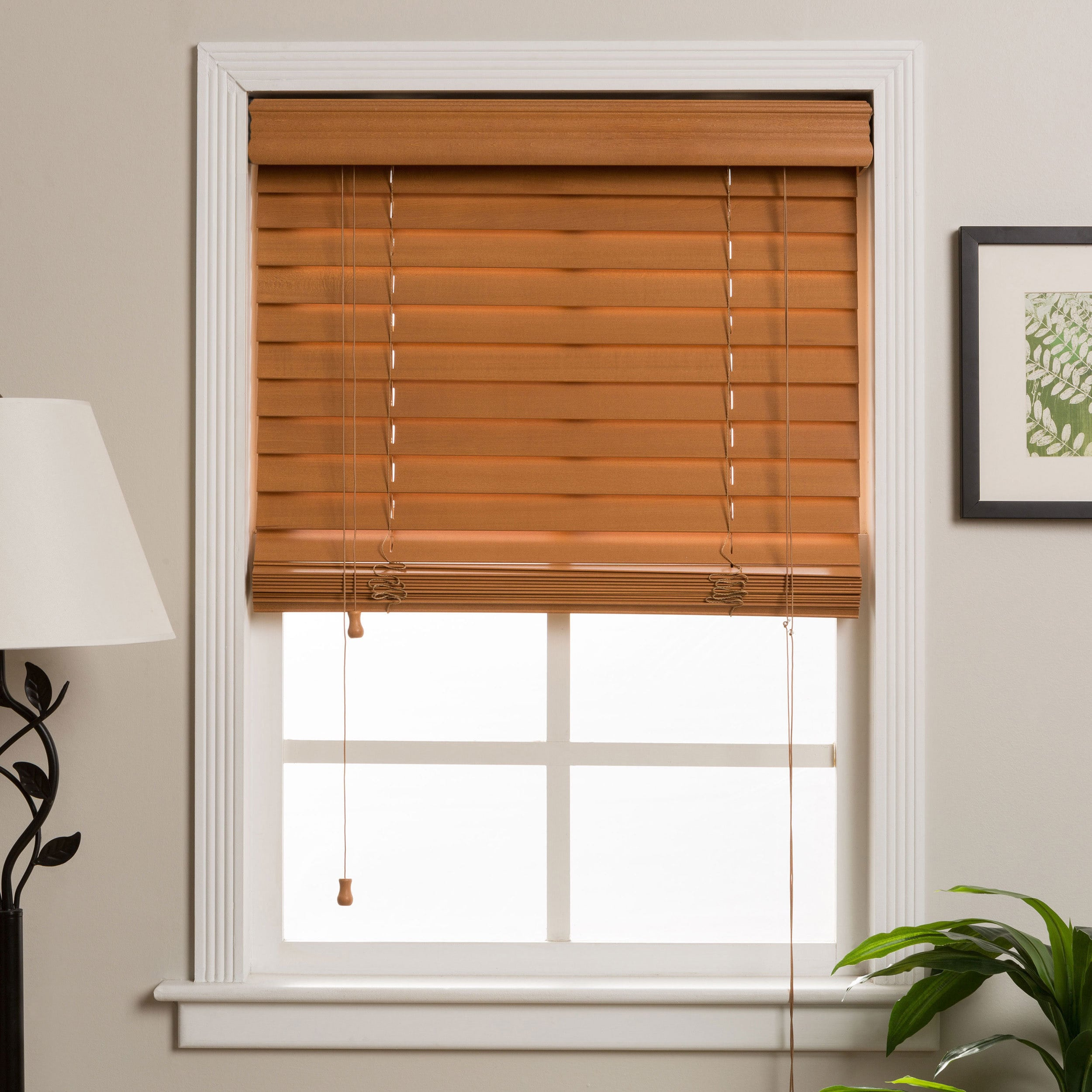 wooden window blinds shop arlo blinds customized 36-inch real wood window blinds - on sale FUPOSPX