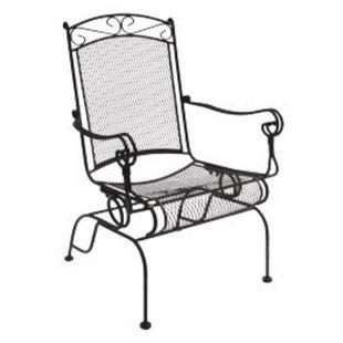 wrought iron chairs charleston wrought iron high back rocking chair (set of 2) DPVBUPB