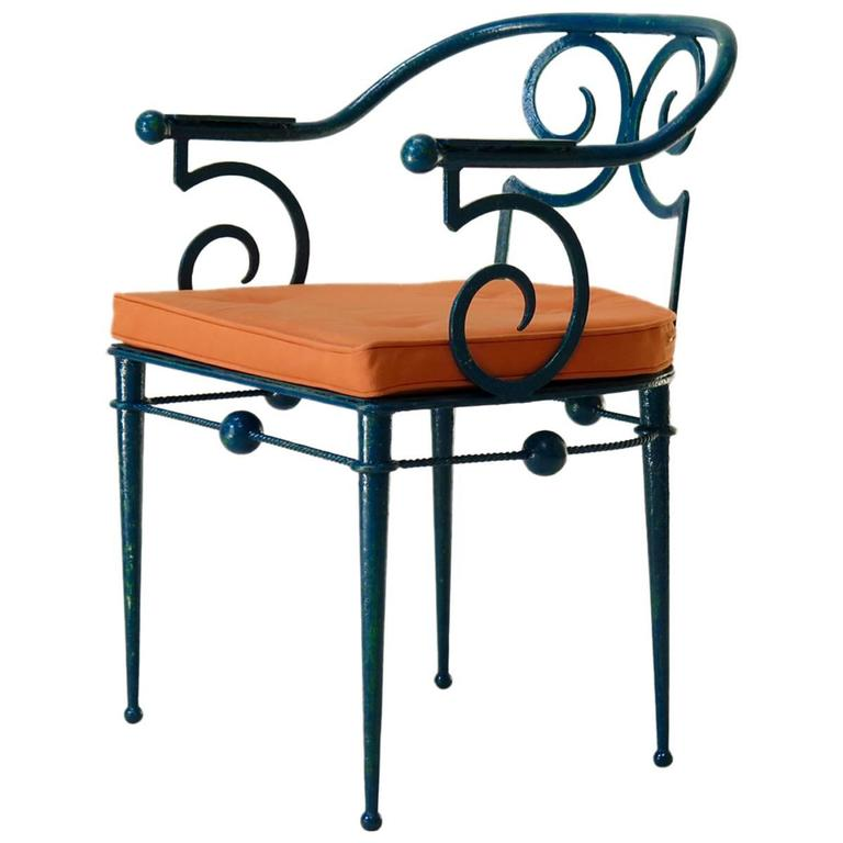 wrought iron chairs french art deco wrought-iron chair in the style of poillerat, circa 1930s UFMVSRC