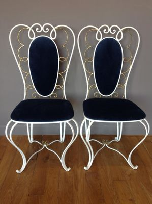wrought iron chairs vintage wrought iron chair, 1950s, set of 2 1 JGGZNZI