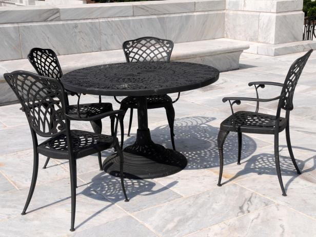 wrought iron patio furniture YVIVEKE